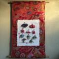 玄関をおしゃれに飾る雛人形★帯リフォーム手作り壁掛け飾り