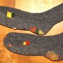 ダーニングやり方と糸の始末◆靴下を可愛くお直し!履き心地は?